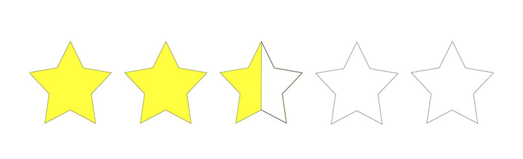 Star rating depict vendor qualitative evaluation by gathering and analyzing data - part of services offered by strategic sourcing vendors